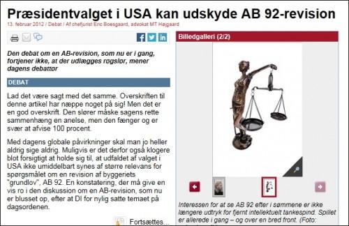 2012.02.13 Præsidentvalget i USA kan udskyde AB 92-revision - Licitationen