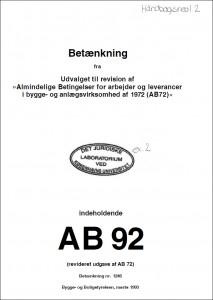AB92 - Betænkning