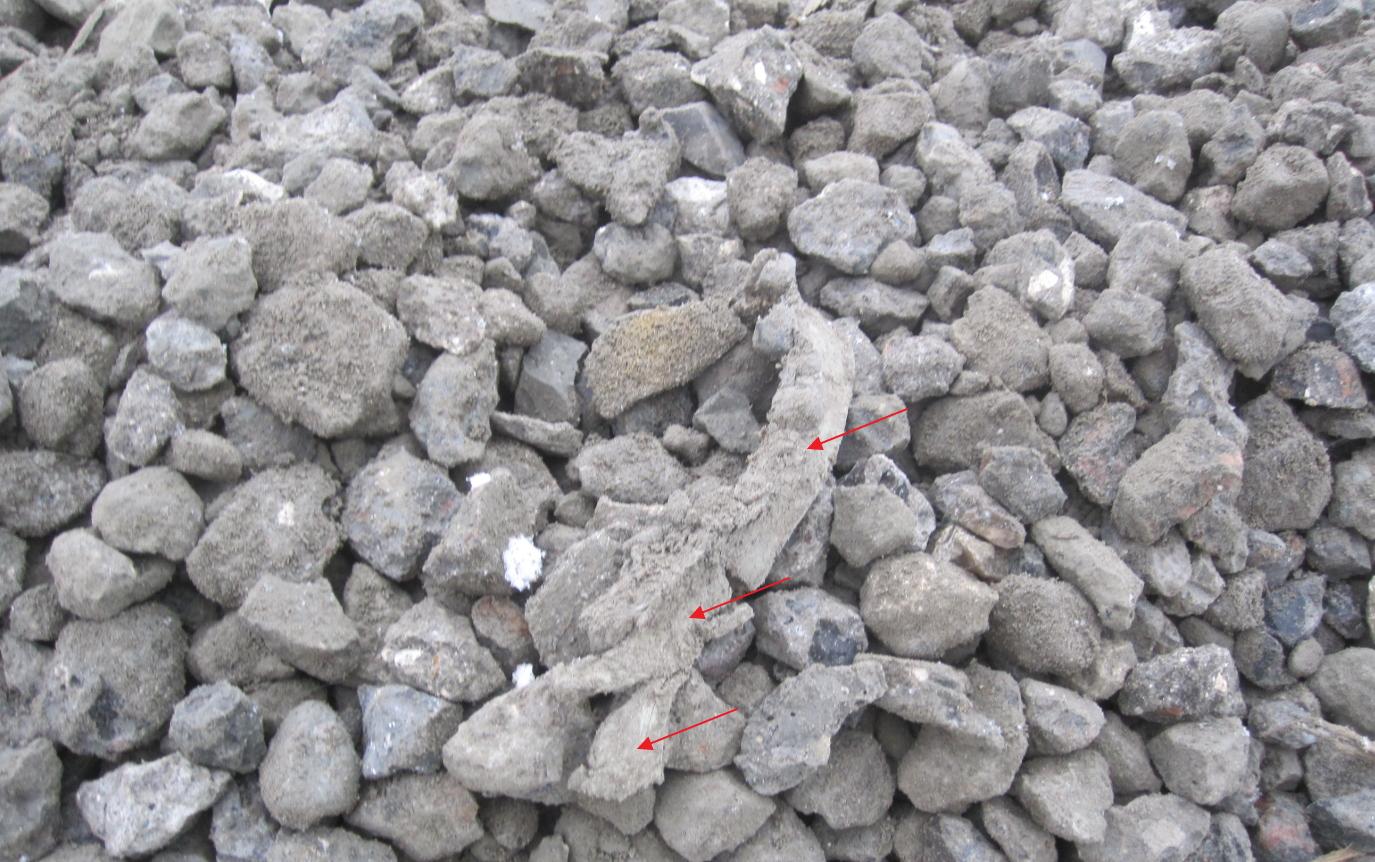 Vejbelægning knust asfalt