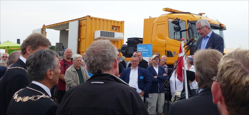 Transport- og bygningsminister Hans Christian Schmidt taler.