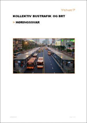 Kollektiv bustrafik og BRT - Høringssvar [Forside]